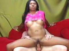 Slutty Indian babe is eager to ride a thick pike