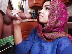 Sexy Arab teen Ada gets her pussy screwed and creampied