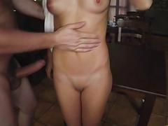 Bossman feed that cock hungry Arab pussy from behind