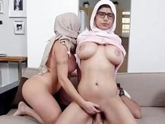 Large tits of arab doxy get bare