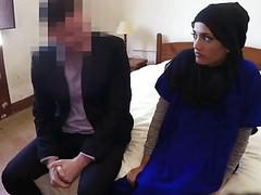 Reverse Cowgirl Arab Teen Riding Cock Hotel Room