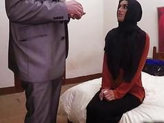 Slim Arab babe is having passionate fuck session in hotel room
