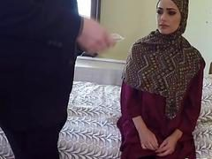 Petite and natural titted Arab girl knows how to fuck really hard